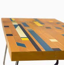 Floor Tables Custom Made Reclaimed Gym Floor Coffee Table Recycle Repurpose
