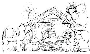 Nativity Color Page Manger Coloring Page Nativity Coloring Pages