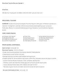Daycare Teacher Resume Resume Sample Of A Teacher Preschool Teacher