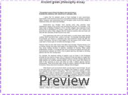 ancient greek philosophy essay research paper academic writing  ancient greek philosophy essay papers must follow the plato and aristotle on the role of