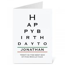 Card Birthday Chart Eye Chart Birthday Create A Card