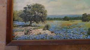 "Texas hill country large oil painting 52""x 28"" by Melva Carpenter 