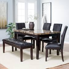 black dining room set with bench. Collection Of Solutions 6 Piece Dining Set With Bench Gallery Also Table Sets Black Room