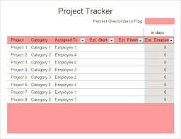 Project Tracking Spreadsheet Excel Free Free 6 Excel Tracking Samples In Excel