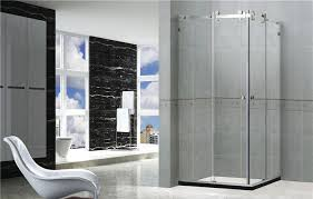 8mm tempered glass frameless shower enclosures with mirror color self cleaning