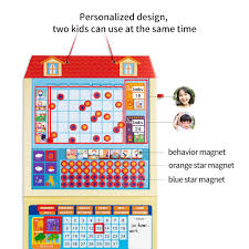 Us 48 93 30 Off Cartoon Magnetic Calendar Kids Activity Reward Behavior Chart Early Learning Educational Toys Daily Weekly Planner Schedule Memo In