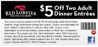 Red Lobster Coupons 2015 2