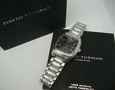 david yurman mens watch david yurman men s automatic watch t310 x black checkerboard dial w box manual