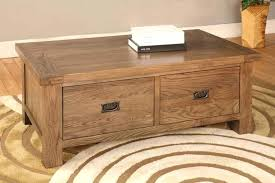 two drawer coffee table excellent com mission two drawer coffee table russet finish intended for two drawer coffee table