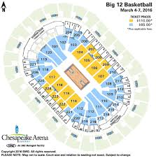 Big 12 Championship Seating Chart Big 12 Womens Basketball Championship Chesapeake Energy Arena