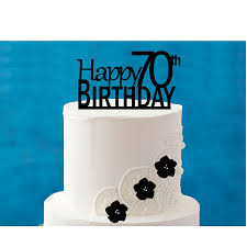 Happy 70th Birthday 5 X 4inch Number Elegant Cake Topper Walmartcom