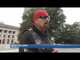 bikers take confederate flags and