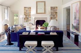 while sourcing rugs for a project i kept coming back to blue and white stripes and similar patterns there is something about them that is relaxed and