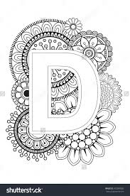 Printable Mandala Lettersloring Pages Free Amazing Doodle Floral