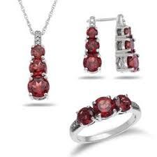 garnet jewelry set by zales garnet is january s birthstone wedding jewelry and accessories