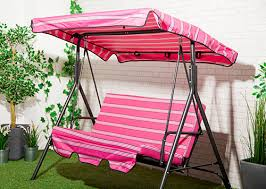 stripes replacement canopy for swing seat garden hammock 2 3 seater size cover ebay