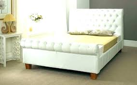 real leather sleigh bed king size p rogers beds direct chesterfield white
