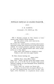 Notulae criticae ad Silium Italicum (Continued)