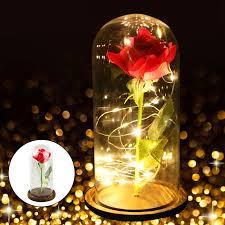 Enchanted Led Rose Light Beauty And The Beast Rose Decor Light Eeekit Enchanted Red