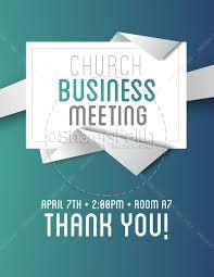Church Business Meeting Flyer Template Flyer Templates