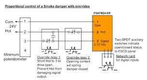 modulating control of fire smoke dampers in smoke control figure 6 potentiometer control of a smoke damper override open or closed