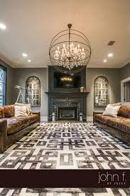 feizy rugs steps fashion floorward with ceiling lighting and brown sofa living room ideas