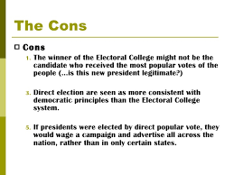 the electoral college 7 the cons