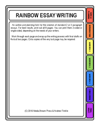rainbow essay writing graphic organizer and writing planning tool