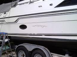 damage on side of boat