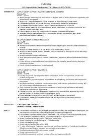 Application Support Manager Resume Samples Velvet Jobs
