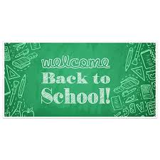 Green Sketch Welcome Back To School Banner Classroom Decoration