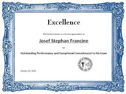 Award Of Excellence Certificate Template Premium Certificate Of Excellence Award Certificate Template Sample 27