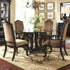 quattro round table 4 chairs rug flower lamp buffet dining room