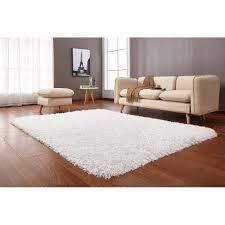 white shag rug. 8 X 10 Large White Shag Rug - Crystal