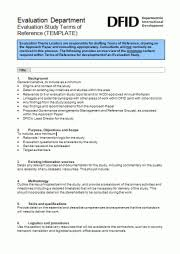 Refrence Template Evaluation Study Terms Of Reference Template Better Evaluation