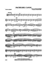pachelbel canon violin sheet music pachelbel canon 1st b flat clarinet johann pachelbel gustaf