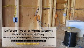 diffe types of wiring systemethods of electrical wiring