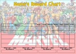 Free Homework Chart Details About Marvel Job Behavior Reward Homework Chart Free Pen Stickers