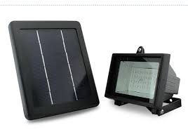 small solar flood light with solar panel