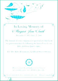 Memorial Service Invitation Wording Custom Obituary Cards Sample Card For Funeral Programs Templates Memorial