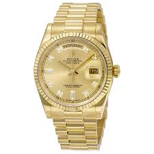 rolex day date champagne dial 18k yellow gold president automatic rolex day date champagne dial 18k yellow gold president automatic men s watch 118238cdp