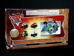 mattel cars toons monster truck mater 3-pack box back (toy… | Flickr