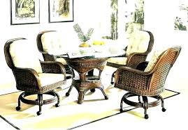 dining chairs on casters kitchen with wonderful leather upholstered