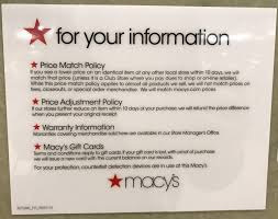 macy s match policy isn t highly publicized but it s pretty straightforward macy s will match an identical item from an approved s