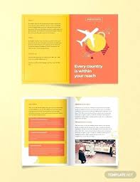 Half Fold Brochure Template Folded Brochure Template Tri