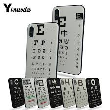 Eye Chart On Phone Us 1 17 38 Off Yinuoda Funny Eye Chart Black Tpu Soft Rubber Phone Case For Apple Iphone 7 7plus X 8 8plus 6s 6 6plus 5 5s 5c In Half Wrapped Cases