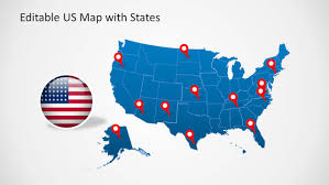 Usa Map For Powerpoint Us Map Template For Powerpoint With Editable States
