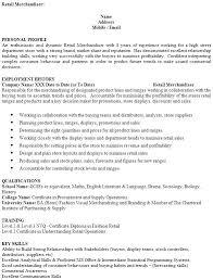 Resume For Retail Merchandiser Retail Merchandiser Resume Retail