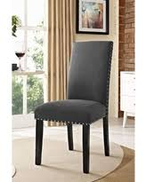fabric dining chairs with nailheads. milton nailhead trim grey fabric parson dining chair (milton chairs with nailheads