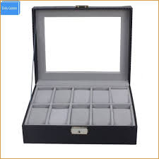 jewelry display cases whole lovely 10 slot carbon fiber watch box jewelry display storage case with